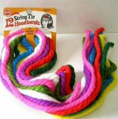My Mom wasn't good at breading hair, so she put a part in my head, wrapped one of these around the end of my ponytail, tied it in a bow and sent my off to school.  Memories.