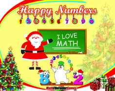 Happy Numbers - Christmas Math Clipart #MathClipart #Clipart FREE http://www.teacherspayteachers.com/Product/Happy-Numbers-Christmas-Clipart-Pack-Math-Clipart-1022072