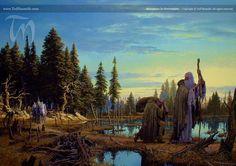 Ted-Nasmith-Gandalf-Galadrel-y-los-demas-alcanzan-a-Saruman.jpg (1256×886)