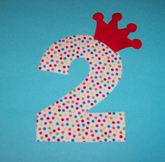 Fabric Applique TEMPLATE Pattern ONLY NUMBER 2 Two With by etsykim, $1.50