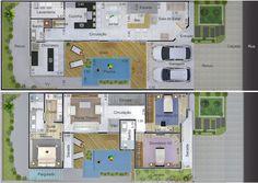 Planta de casa de esquina - Projetos de Casas - Modelos de Casas
