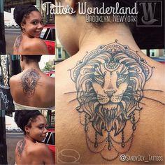 @sandydex_tattoos lovely #Leo #lion #back #nape #tattoo @tattoowonderland…