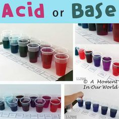Many substances can be classified as either an acid or a base. Lemon juice is a weak acid and like most acids, it tastes sour. A base is the opposite of an acid. A pH is a was to measure how acidic or base a liquid is. The value ranges from 0 and 7 for … Chemistry Lessons, Chemistry Labs, Science Chemistry, Food Science, Science Activities, Science Resources, Physical Science, Science Education, Science Lessons