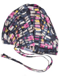 An adjustable, bouffant scrub hat features a terry cloth sweatband, front pleats which give enough fullness for complete hair coverage and back elastic for better fit.