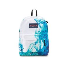 JanSport Superbreak Backpack - Multi/Blue Drip Dye / 16.7 - Click image twice for more info - See a larger selection of blue backpacks at http://kidsbackpackstore.com/product-category/red-backpacks/. - kids, juniors, back to school, kids fashion ideas, teens fashion ideas, school supplies, backpack, bag , teenagers girls , gift ideas, blue