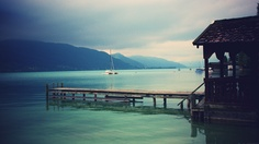 nothing beats home. this is a lake called Attersee which is about three hours away from Vienna. i took this picture a few years back