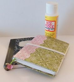 A mod podge composition notebook. #crafts #mod podge #plaidcrafts