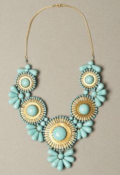 have this exact same neckalce at work! in this color and coral:) come check out Ursula's Boutique!!