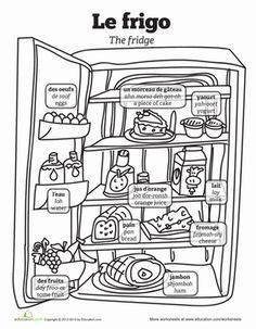 BREAKFAST FRENCH WORKSHEET,Primary Resources,KS1 KS2,Food