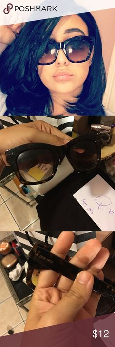 Nine West cat eye sunnies 😎😍 Nine West oversized cat eye sunglasses perfect 👌 covers brows for those makeup less days lol!! Offers are welcome purchased at the outlet for $20. Nine West Accessories Sunglasses