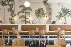 Inside Sydney's The Butler restaurant: Krelle has created a tropical meets colonial look in the new space.