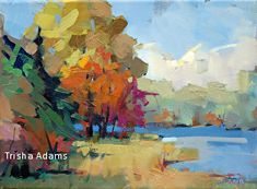 Distant Blue by Trisha Adams Oil ~ 9 x 12