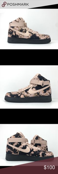 Nike Air Force 1 High Print Men's Sneakers Shoes PinkBlack #AR1954 001