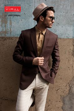 Only vimal puts together the perfect outfit for men Category-Fashion Jacketing 12090 – 1 (Blazer) 88098-5-(Fashion Khakis -Trouser)