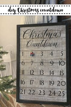 Create a beautiful personalized wooden advent calendar with your @Cricut Explore Air 2 and the simple step by step DIY from Everyday Party Magazine #AD #CricutCreated #Cricut #AdventCalendar #PersonalizedChristmasDecor #FarmhouseStyle