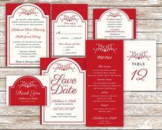 Wedding InvitationSet/Wedding Invitation by AffordableDIYWedding