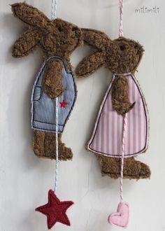 Osterhasen - Frecher Frühlingshasenjunge - ein Designerstück von milimili-shop bei DaWanda