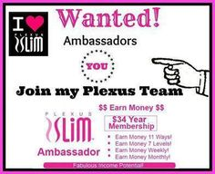 CLICK HERE!!! It's a new month and I am ready for you to join my team For $34.95 you can become an ambassador for a debt free company. www.pinkdrinkwonder.com ambassador #244204 pinkdrinkwonder@gmail.com