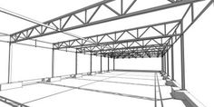 Truss Structure, Steel Structure Buildings, Metal Buildings, Architecture Board, Concept Architecture, Interlocking Concrete Blocks, Structural Drawing, Steel Trusses, Steel Frame House