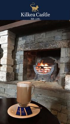 Why not join us for a coffee by the fire while we wait for the snow to thaw, or just enjoy the views! #KilkeaCastle #snow #coffeebythefire