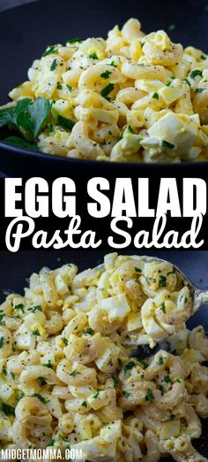 egg meals This Egg Salad Macaroni Salad is creamy and loaded with eggs and big flavor. In one dish you get the best of all worlds combining egg salad and deviled eggs flavors with macaroni s Best Salad Recipes, Egg Recipes, Pasta Recipes, Cooking Recipes, Healthy Recipes, Best Egg Salad Recipe, Healthy Tuna, Healthy Dishes, Healthy Meals