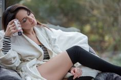 Angelina Petrova, Brunette, Closed Eyes, Guenter Stoehr, Legs, Long Hair, Model, People, Smiling, Socks, Women wallpaper preview