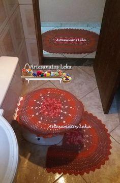 Jogo de lavabo oval em crochê