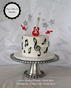 Guitar Birthday Cakes, Music Theme Birthday, Guitar Cake, Themed Birthday Cakes, Music Themed Cakes, Music Cakes, Music Themed Parties, Fiesta Cake, 50th Cake