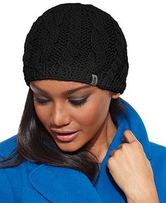 The North Face Hat, Cable-Knit Beanie - Hats, Gloves & Scarves - Handbags & Accessories - Macy's