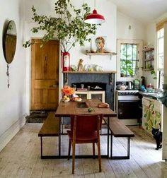 Home Decor Bohemian kitchen decor.Home Decor Bohemian kitchen decor Cottage Kitchens, Home Kitchens, Rustic Kitchens, Kitchen Rustic, Home Interior, Kitchen Interior, Interior Ideas, Bathroom Interior, Bohemian Kitchen