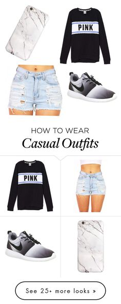 """Cute casual"" by burzua on Polyvore featuring NIKE, women's clothing, women, female, woman, misses and juniors"