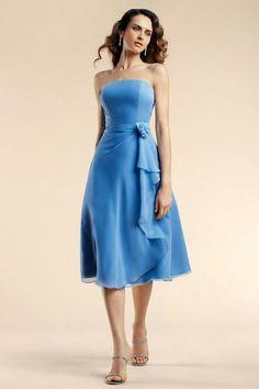 Graceful light blue long dress