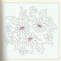 Resultado de imagen para bordado Hand Embroidery Dress, Bead Embroidery Patterns, Crewel Embroidery, Hand Embroidery Designs, Ribbon Embroidery, Applique Designs, Floral Embroidery, Daisy Drawing, Hungarian Embroidery