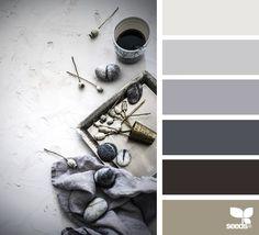 { still tones } image via: The post Still Tones appeared first on Design Seeds. Paint Color Schemes, Colour Pallette, Color Combos, Paint Colors, Blue Palette, Color Tones, Wall Colors, Color Concept, Style Oriental