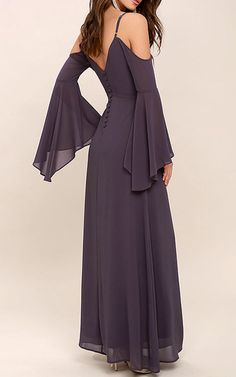The Glamorous Greeting Dusty Purple Maxi Dress is fabulous. I just really love the bell sleeves along with the off the shoulder look. Purple Maxi, Dusty Purple, Best Maxi Dresses, Dress Skirt, Bell Sleeves, Cold Shoulder Dress, Glamour, Style Inspiration, Chic