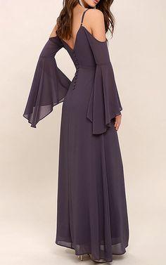 Glamorous Greeting Dusty Purple Maxi Dress via @bestmaxidress