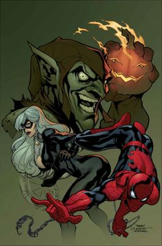 Spider-Man, Black Cat, The Green Goblin by Terry Dodson