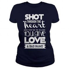 LOVE BJ  SHOT THROUGH THE HEART T-SHIRTS, HOODIES, SWEATSHIRT (23.99$ ==► Shopping Now)