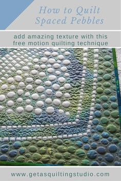Learn to quilt spaced pebbles. via @getagrama