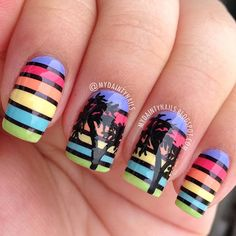 Palm Trees by mydaintynails #nail #nails #nailart