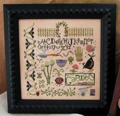 cross stitch pattern : magic garden sampler shakespeare's peddler counted cross stitch pattern diy.  via Etsy.