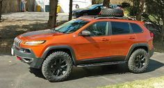 Finally a true spring and strut lift kit for the new Jeep Cherokee KL. Jeep Cherokee Lift Kits, 2016 Jeep Cherokee Trailhawk, Jeep Trailhawk, Lifted Jeep Cherokee, 2014 Jeep Grand Cherokee, Cherokee Sport, Jeep Suv, Jeep Cars, Us Cars