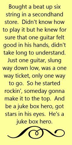 Foreigner - Juke Box Hero - song lyrics, song quotes, songs, music lyrics, music quotes,