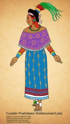 Yucatan Postclassic Maya Noblewoman by Kamazotz on DeviantArt Aztec Culture, Maya Ali, Inka, Aztec Art, Mesoamerican, Snacks Für Party, Maya Angelou, Illustration, Character Design