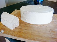 2 step - cover in butter icing.    Noahs Ark Cake by punkshimmy, via Flickr