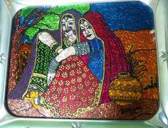 Village ladies - Glass Painting