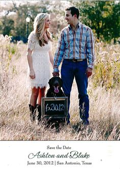 cute save the date idea... too bad we don't have a dog!