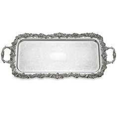 Reed /& Barton 3613 Shell and Gadroon Cocktail Tray 25-Inch