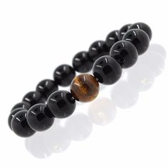 Black Natural Black Onyx Stone Beads Bracelets //Price: $3.99 & FREE Shipping // http://histrends.com/black-natural-black-onyx-stone-beads-bracelets/ #trendsformen
