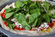 Spinach & Mozzarella Pizza